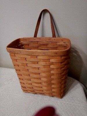 "2000 LONGABERGER  MAIL BASKET  9.5"" x 9.75"" SIGNED WITH PROTECTOR"