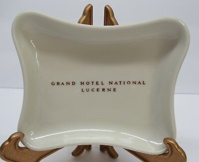 Vintage Grand Hotel National Lucerne Switzerland Coin Tray Dish