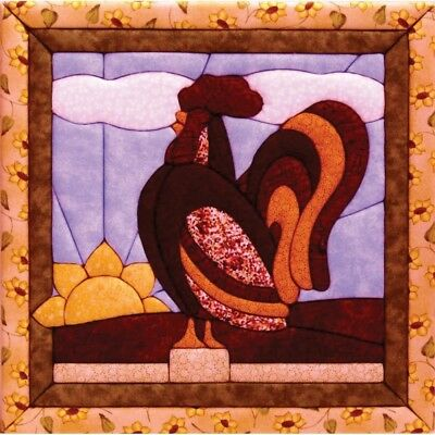 Quilt Magic 12-inch By 12-inch Rooster Kit - Kit12x12 Qm120
