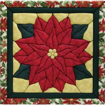 Quilt Magic 12-inch By 12-inch Poinsettia Kit - Kit12x12