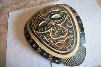 """Carved Nigerian Mask Measures 7 1/4"""" Wide x 9 3/4"""" Very light Weight"""