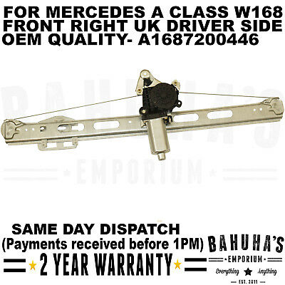 Window Regulator Class A W168 1997-2004 Front Mechanism 5 Doors Right