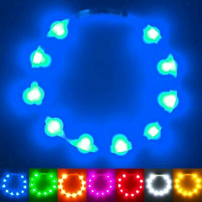 PetSol Extra Bright USB Rechargeable LED Dog Collar Cut To Size Universal Fit