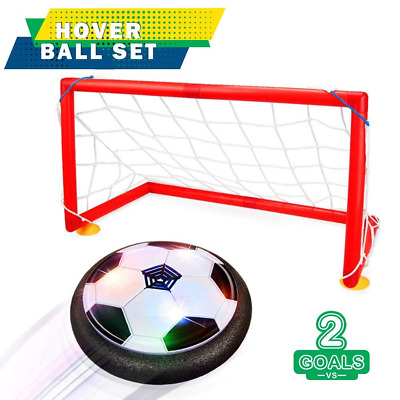 Kid Soccer Goal Set Hover LED Ball +2 Gates Training Football Toy Indoor Outdoor