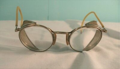 Vintage Ful-Vue No. 23 Safety Glasses with Side Screens, Steam Punk