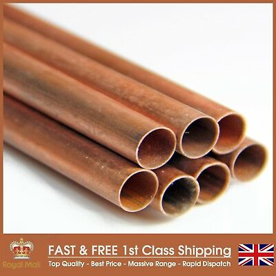 "9.5mm (0.375"") Copper Pipe/Tube For DIY, Plumbing & Gas"