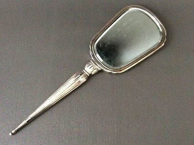 "Large Sterling Silver ""A"" Monogram Vanity Hand Mirror"