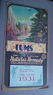 1931-calendar-TUMS-Nature's Remedy --never used-beautiful