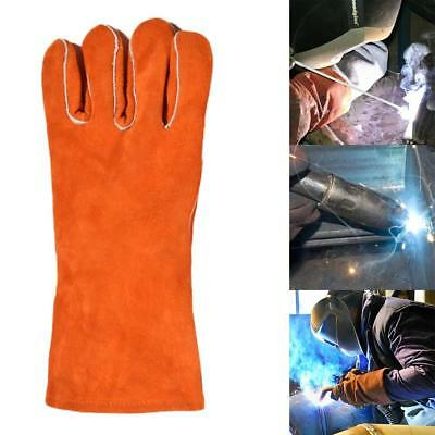 1 Pair Welding Gloves Heat Shield Guard Work High Temperature Protection Gloves