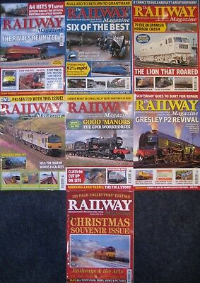 6 Issues x The Railway Magazine July to December 2013 + Christmas Souvenir Issue