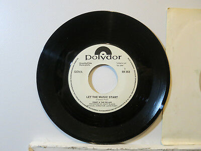 """Pinky & The Fellas - Let the Music start-Rock Pop 7"""" 1969 Polydor D + WLPromo NM"""