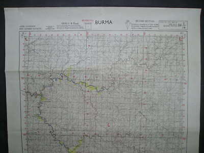 No(4) c1944 WWII 14th Army Burma Campaign Map Upper Chindwin & Shwebo District