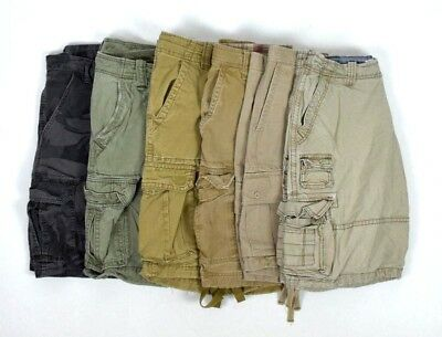 Lot 6 Cargo Shorts Mens 33 Camo Khaki Tan Brown Green Aeropostale Hollister GAP