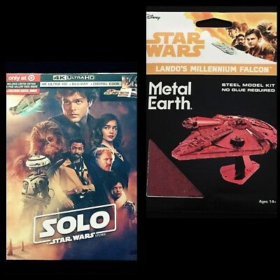 Target Exclusive Millennium Falcon & Solo: A Star Wars Story Blu-Ray & 4K/UHD