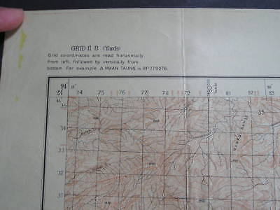 No(10) c1943 WWII 14th Forgotten Army Hman Taung Burma Military Map