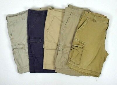 Lot 5 Cargo Shorts Men Size 42 Cotton Khaki Tan Blue Blue Levis Red Head etc