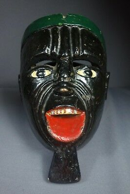 Antique Hand-Carved Raton Traditional Dance Mask from Guatemala ca 1920/30