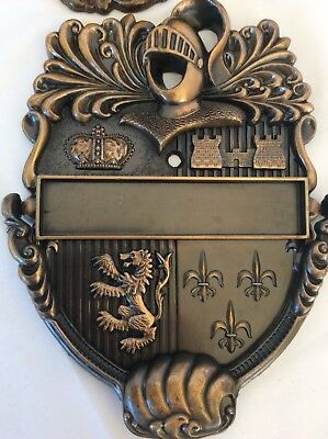 Knight Shield Door Knocker And Doorbell Medallion Cover Upgrade Fancy Royal Deco