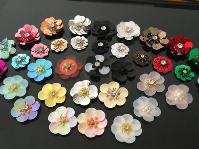 Flower Applique patch sequin beading clothing accessory embroidery sock shoe hat