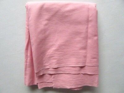 """Vtg 1930's 40's Solid Pink Cotton Fabric  Bubble Gum Pink  34 1/2"""" X 1 Yd 14"""""""
