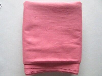 """Vtg 1930's 40's Solid Pink Cotton Fabric  Rosey Pink  34 1/4"""" X 3 Yds 25"""""""