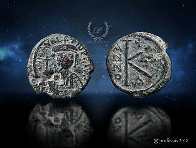 Constantine in Numidia / Military Mint Maurice Tiberius Byzantine AE Half Follis