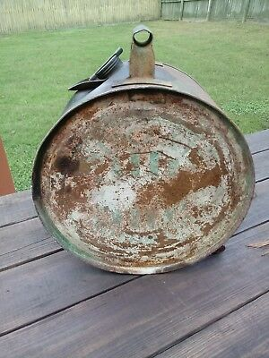 Vintage Early Sinclair Opaline Motor Oil 5 Gallon Rocker Can Gas Station