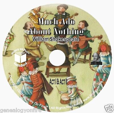 Much Ado About Nothing by William Shakespeare (audio CD, Audio book) on 2 CD's
