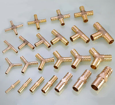 Brass BSP Hose Tail Fitting Connector Straight Union ,Cross ,Tee, Y Pipe Adapter
