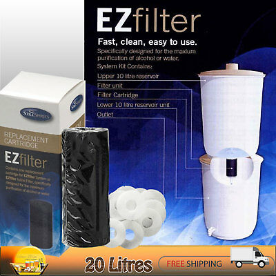EZ FILTER SYSTEM [PLUS] CARBON CARTRIDGES x2 & WASHERS - FILTERS WATER / SPIRITS