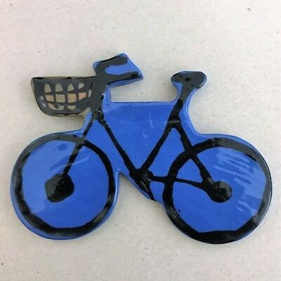CERAMIC BICYCLE - 75x100mm - Blue ~ Mosaic Inserts, Art, Craft Supplies