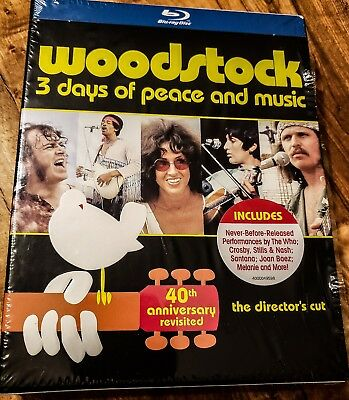 WOODSTOCK: The Director's Cut - 3 Days of Peace & Music 40th Anniversary Blu-Ray