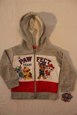 NEW Toddler Boys Hooded Zip Jacket Size 2T Top Shirt Paw Patrol Chase Hoodie *