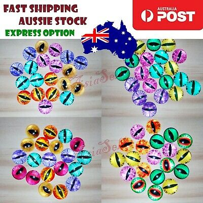 20pcs 20mm Cat Eye Eyeballs Dinosaur Time Gem Balls Glass Dolls Eyes Cabochon