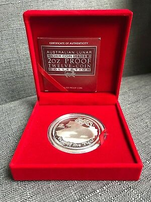 Perth Mint 2010 2oz Silver Proof Lunar Year of the Tiger Coin EXTREMELY RARE