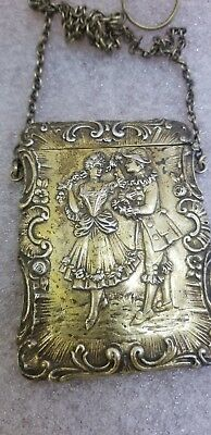 Antique Sterling Silver Ladies Card Carrying Case  1880's