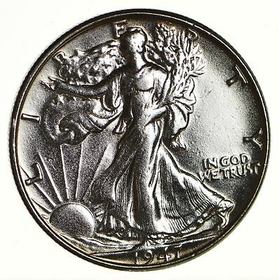 Strong Feather Details - 1947 Walking Liberty Half Dollar - 90% Silver *640