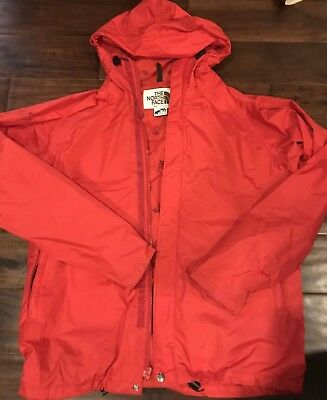 Vintage The North Face Gore-Tex Light Windbreaker Rain Jacket Size L Red