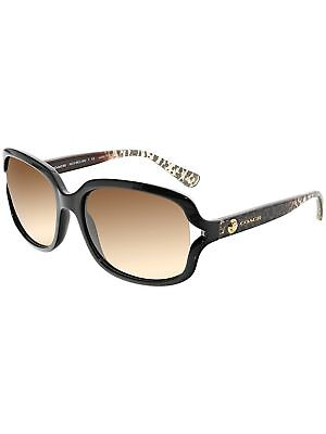Coach Women's HC8169-535313-57 Brown Rectangle Sunglasses