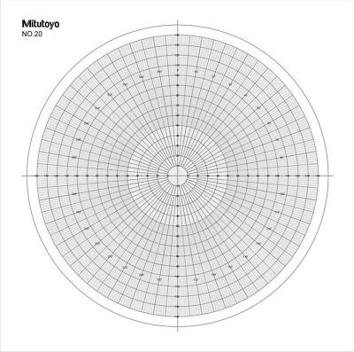 Optical Comparator Chart For Profile Projector Overlay Chart Mitutoyo 512075