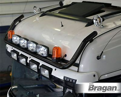 To Fit International LT Series Black Roof Light Bar + Spot Lamps + Amber Beacons