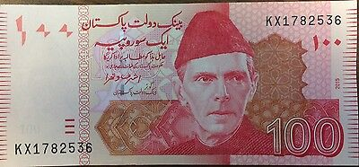 PAKISTAN 100 Rupees Banknote World Paper Money Currency Pick 48h 2013 Ali Jinnah