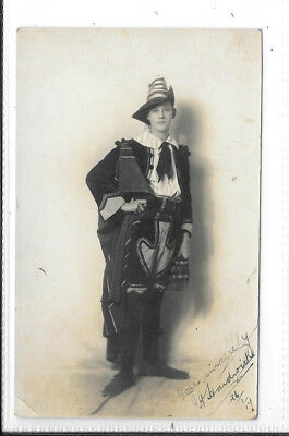 WW1 Photographic Postcard Young Man in Costume