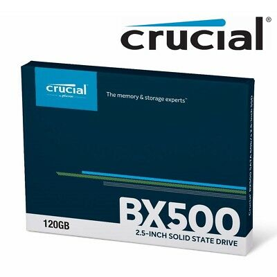 "SSD 120GB Crucial BX500 Internal Solid State Drive Laptop 2.5"" SATA III 540MB/s"