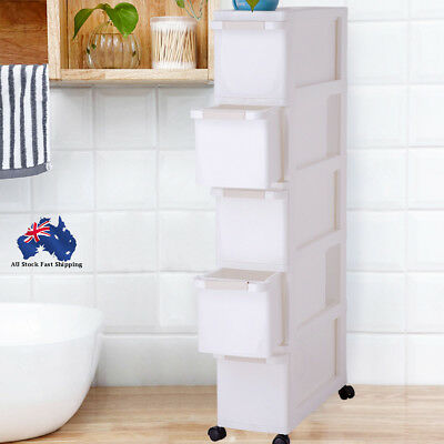 Plastic Kitchen Storage Box Bag Drawer Table Toilet Home Organizer Cabinet
