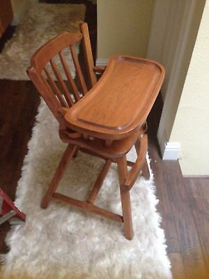 🔴 Hunt Country Furniture Wooden Tongue and Groove Highchair top quality VINTAGE