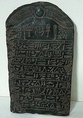 RARE ANCIENT EGYPTIAN ANTIQUE FRAGMENT Wall Relief Stela  1500-700 BC