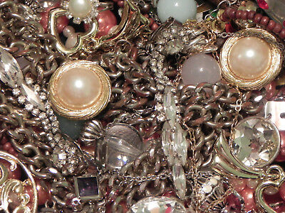 Estate Sale Lot of Vintage to Modern Jewelry, Untested, #686 Some Signed