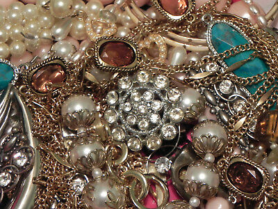 Estate Sale Lot of Vintage to Modern Jewelry, Untested, #688 Some Signed