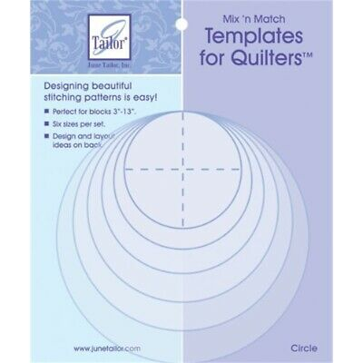 June Tailor Jt411 Mix-n- Match Templates For Quilters, Multi-colour - Circles